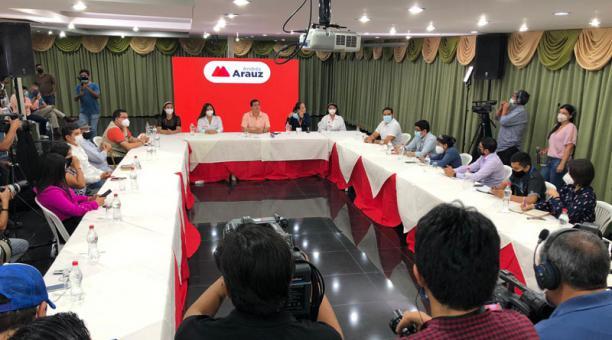 Andrés Arauz participó este 22 de marzo del 2021 en un conversatorio con los medios. Foto: Enrique Pesantes/ EL COMERCIO.