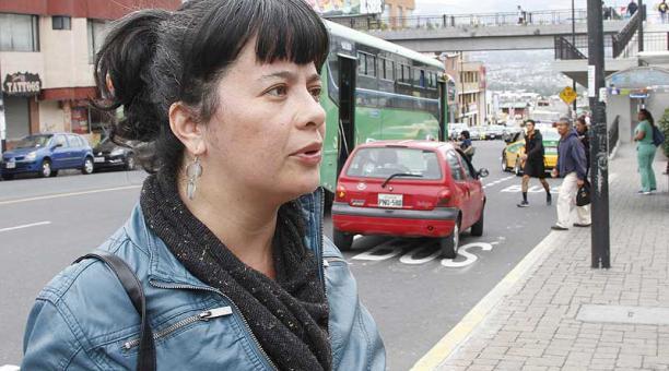 Karina Gallegos, socióloga y coordinadora de la Asociación de Peatones de Quito. Foto: archivo / EL COMERCIO