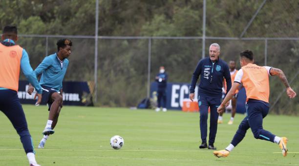 La selección ecuatoriana se entrena en Quito, bajo el mando técnico de Gustavo Alfaro. Foto: FEF