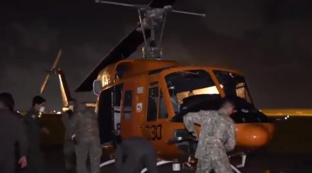 Un helicóptero de la Fuerza Aérea de Uruguay se accidentó el 25 de marzo del 2021, cuando transportaba dosis de vacunas contra el covid-19. Foto: Twitter Ministerio de Defensa Nacional de Uruguay