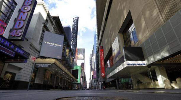 Los teatros de Broadway están cerrados desde mediados de marzo del 2020. Foto: EFE