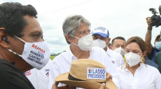 Guillermo Lasso estuvo este 26 de marzo del 2021 en la provincia de Los Ríos. Foto: cortesía.