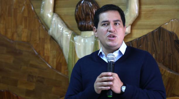 Andrés Arauz participó de un evento organizado por la Prefectura y el Gobierno Provincial de Tungurahua. Foto: Glenda Giacometti/ EL COMERCIO