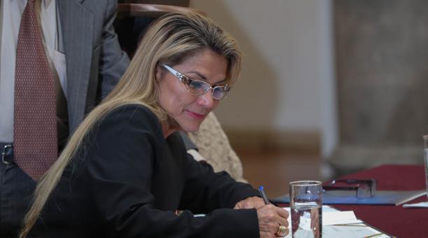 EE.UU. pidió este 27 de marzo del 2021 la liberación de Jeaninne Áñez y otros dos funcionarios de su gobierno interino que se encuentran detenidos en Bolivia. Foto: EFE.