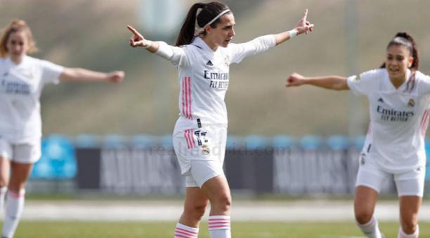 Marta Cardona, futbolista del Real Madrid en España. Foto de la cuenta Twitter @Mcardona10