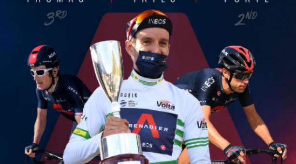 El Team Ineos ganó las tres primeras plazas de la Vuelta a Cataluña con Adam Yates, Richi Porte y Geraint Thomas. Foto: @INEOSGrenadiers