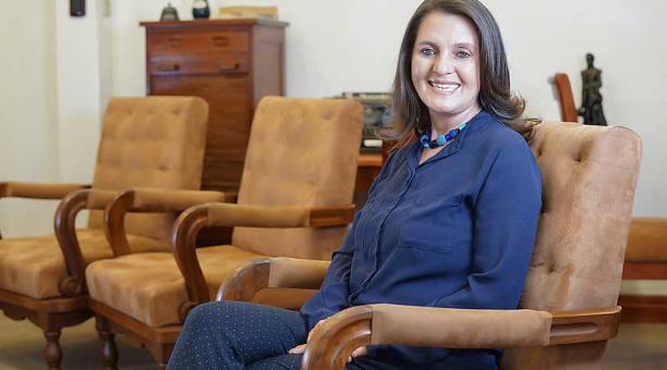 María Augusta Hermida, rectora de la Universidad de Cuenca. Foto: cortesía Universidad de Cuenca