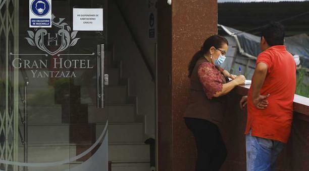 Todas las habitaciones del Hotel Yantzaza están contratadas por las mineras. Foto: Lineida Castillo / EL COMERCIO