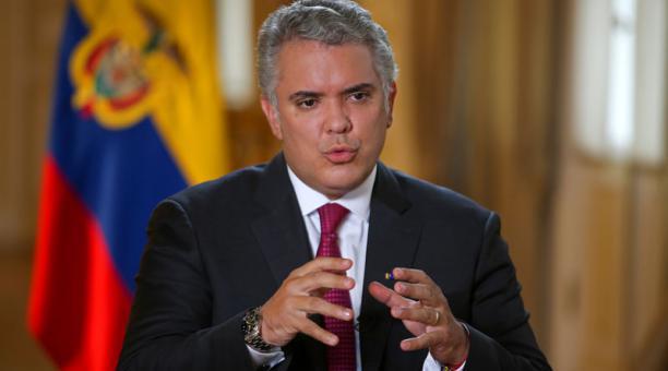 El presidente de Colombia, Iván Duque, anunció el 29 de marzo del 2021, la captura de alias' Leidy', una de las jefas de la guerrilla del ELN. Foto: Reuters