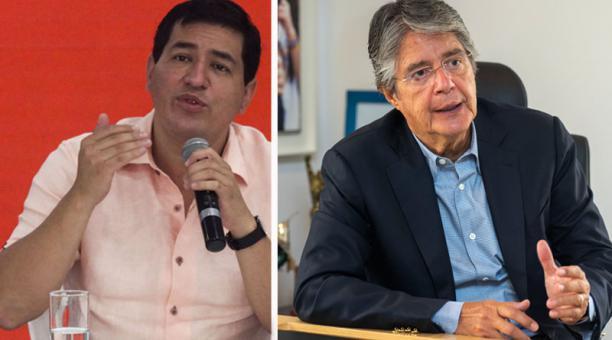 Los candidatos presidenciales Andrés Arauz (Unes) y Guillermo Lasso (Creo-PSC) se reunieron por separado con el Embajador de los Estados Unidos en el Ecuador. Fotos: Archivo/ EL COMERCIO