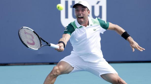 Roberto Bautista, tenista español que participa en el Masters 1000 de Miami. Foto: EFE