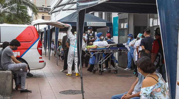 Guayaquil experimenta un repunte de casos de coronavirus. Foto: Enrique Pesantes / EL COMERCIO