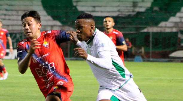 Liga de Portoviejo goleó a El Nacional, en el campeonato serie B. Foto: Twitter LDUPoficial