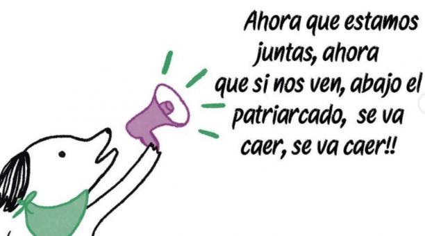 Perrito Feminista es una ilustración de narrativas feministas creada por Laura Juliana Ramírez. Foto: Captura @perrito_feminista
