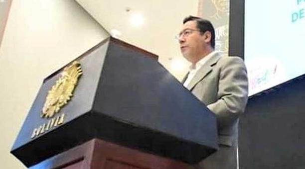 El impuesto a las grandes fortunas fue promulgado en diciembre del 2020 por el presidente de Bolivia Luis Arce. Foto: Twitter Luis Arce