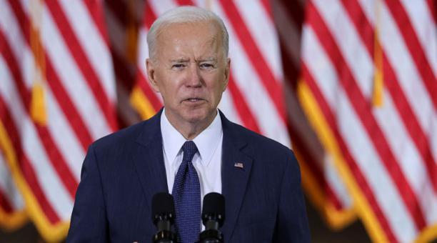 El presidente de Estados Unidos, Joe Biden, durante un evento en que que detalla un plan de infraestructura en el país. Foto: REUTERS