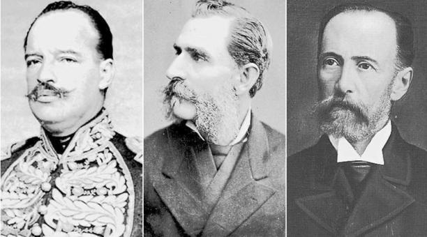 En la imagen Javier Francisco Salazar, Luis Cordero Crespo y Camilo Ponce Ortiz.