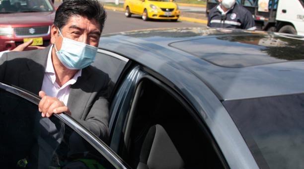 Un colectivo ciudadano plantea la remoción de Yunda ante las denuncias de supuesta corrupción relacionadas al proceso de compra de las pruebas PCR. Foto: Galo Paguay / EL COMERCIO