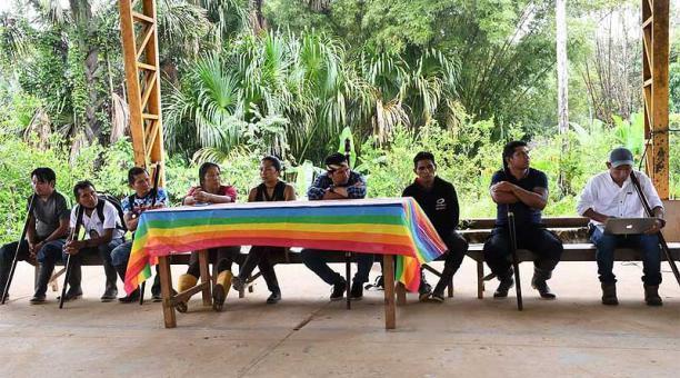 El pueblo Sarayaku anunció la decisión durante la Asamblea Extraordinaria realizada el domingo 4 de abril del 2021. Foto: cortesía pueblo Sarayaku
