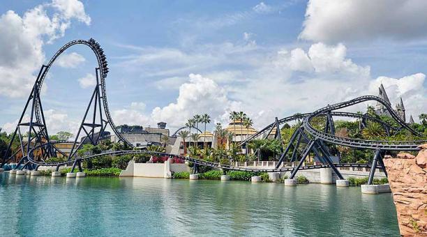 El VelociCoaster está ubicado en el área de Island of Adventure, en Orlando, Florida. Foto: EFE/ Universal Orlando