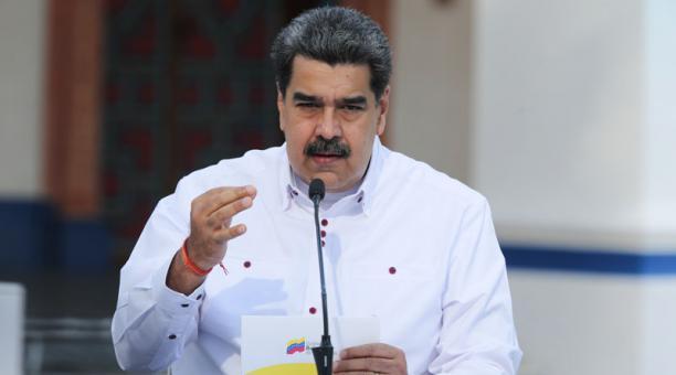 En una entrevista, Iván Duque pidió a la Unión Europea y a la comunidad internacional presionar a Nicolás Maduro para que se permitan las elecciones libre en Venezuela. Foto: EFE
