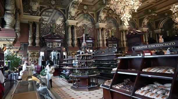 La tienda Eliseevski era famosa por ofrecer productos exóticos de muchos lugares. Foto: EFE