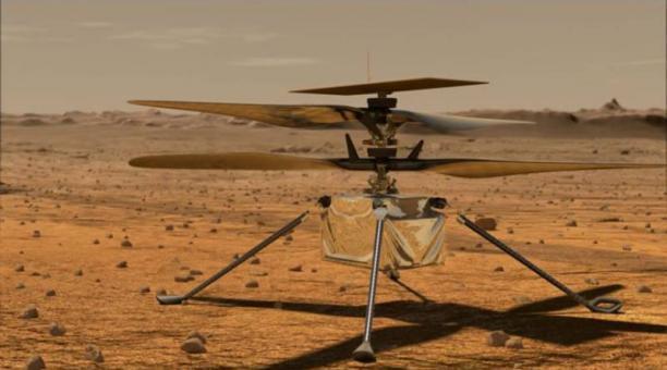 El helicóptero Ingenuity de la NASA realizará su primer vuelo en Marte, el domingo 11 de abril del 2021. Foto: Captura NASA