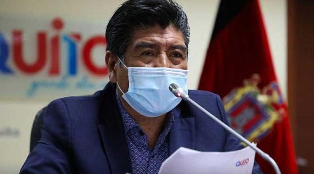El alcalde Jorge Yunda no anunció fechas ni número de vacunas que se destinarán a Quito. Foto: Twitter Municipio de Quito