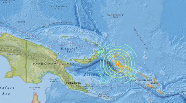 La isla de Nueva Guinea se asienta sobre el