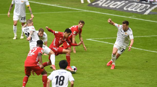 Bayern empató con Unión Berlín, luego de su derrota en la Champions. Foto: EFE