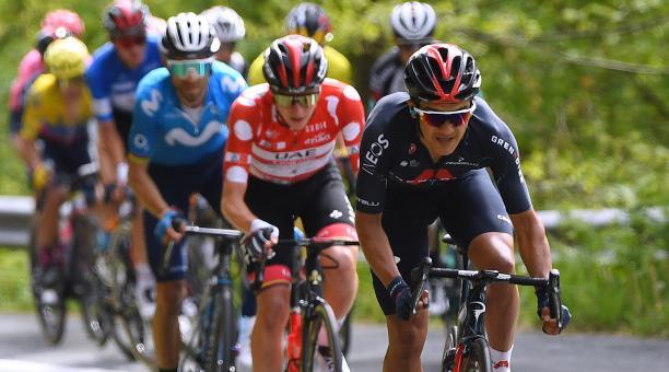 Richard Carapaz participó la semana pasada en la Vuelta al País Vasco. Foto: Twitter Richard Carapaz