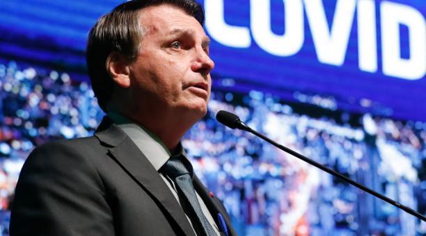 A través de un comunicado de la Cancillería, el presidente de Brasil, Jair Bolsonaro, felicitó a Guillermo Lasso por su triunfo en las elecciones de la segunda vuelta en Ecuador. Foto: EFE