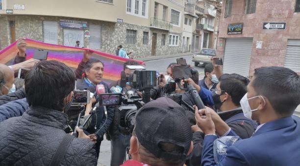 Yaku Pérez espera que Lasso cumpla con sus promesas de campaña. Foto: Cortesía Pachakutik