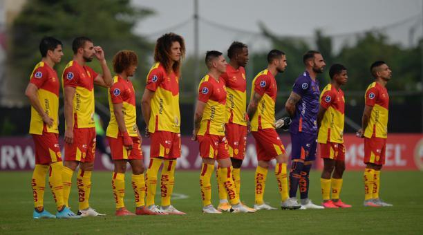 El plantel de Aucas confirmó el contagio masivo después del partido ante Guayaquil City, por la Copa Sudamericana. Tomado de Aucas.