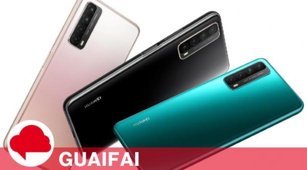El Huawei Y7a es la apuesta de cuatro cámaras para el público más juvenil. Foto cortesía Huawei