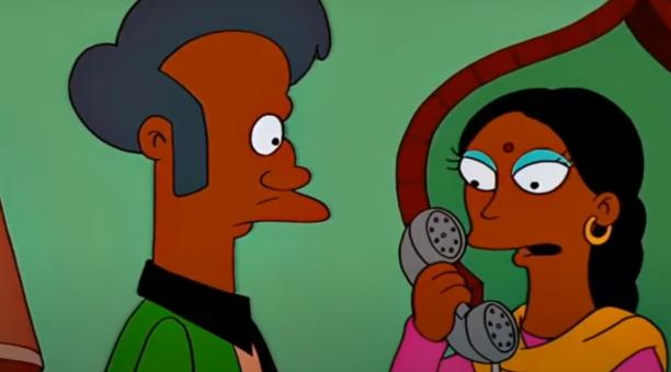 El personaje de Apu ha sido durante muchos años la única representación televisiva estadounidense de la cultura india e hindú. Foto: Captura de pantalla