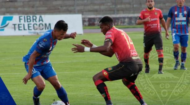 Deportivo Cuenca empató a Olmedo en el estadio Olímpico de Riobamba. Tomado del Facebook de Olmedo