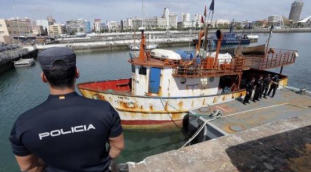 Una mujer de origen ecuatoriano conocida como 'La Señora' fue detenida por la Policía de España, acusada por narcotráfico. Foto: Twitter Policía Nacional