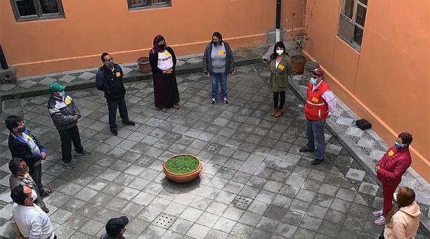 14 comerciantes de diferentes puntos de Quito participaron en la capacitación que se inició el 12 de abril del 2021. Foto: Twitter Metro de Quito
