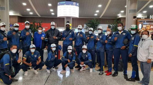 La delegación ecuatoriana que viajó a México. Tomado de Comité Olímpico Ecuatoriano