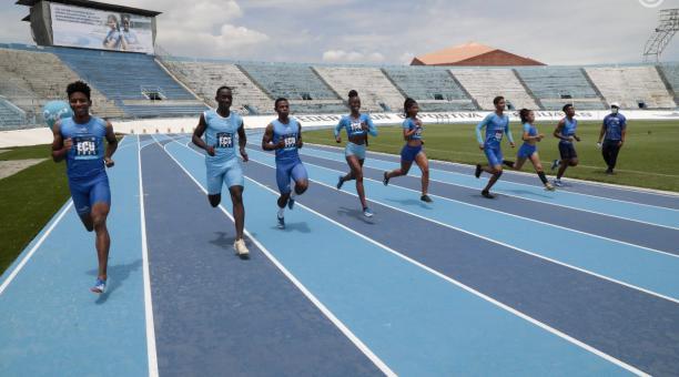 Atletas realizaron una demostración de su disciplina, durante la inauguración. Foto: Presidencia de la República