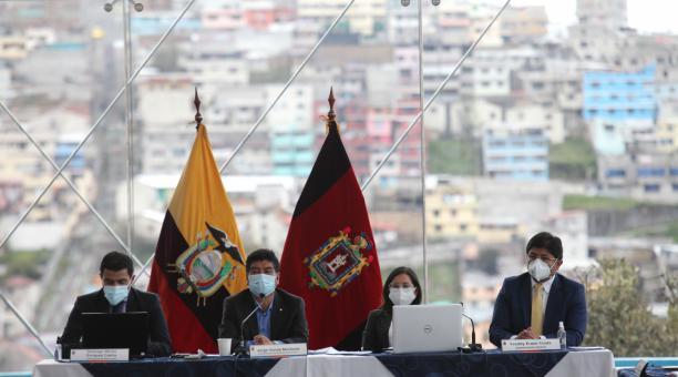 Reunion del Concejo Metropolitano de Quito este jueves 15 de abril del 2021. Foto: Julio Estrella / El Comercio.