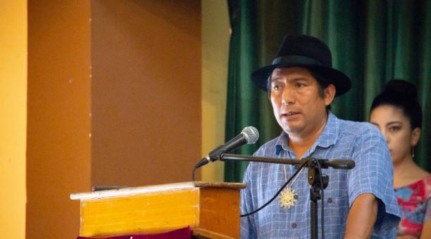 Salvador Quishpe, asambleista electo de Pachakutik. Foto: Archivo/ EL COMERCIO