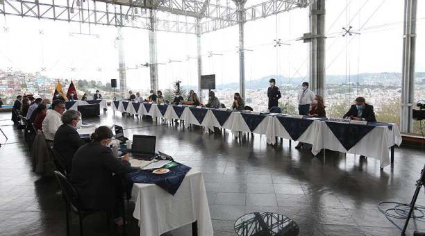 El Concejo Metropolitano de Quito se reunió este15 de abril del 2021 en el Museo del Agua Yaku. Foto: Julio Estrella / EL COMERCIO