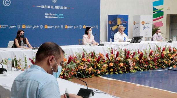 El presidente Moreno aseguró que el objetivo es inmunizar al 60% de la población ecuatoriana contra el coronavirus. Foto: Tomada de la cuenta Twitter Presidencia ECU