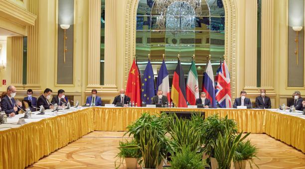 Los países del acuerdo nuclear con Irán continúan este sábado17 de abril del 2021 en Viena sus consultas para salvar el tratado. Foto: EFE