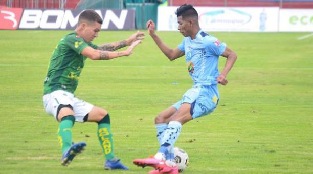 ´Macará venció 1-0 a Orense este sábado 17 de abril del 2021. Tomado de Macará