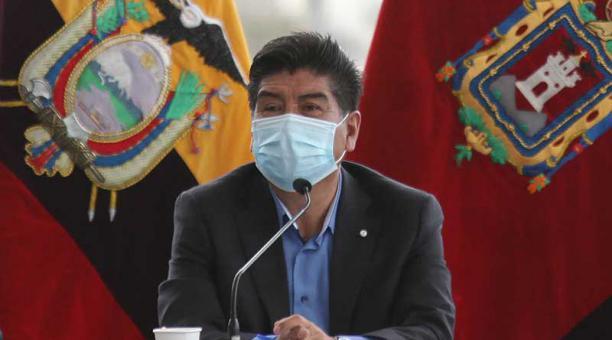 El alcalde Jorge Yunda durante la reunión de Concejo Metropolitano el pasado 15 de abril del 2021. Foto: Julio Estrella / EL COMERCIO