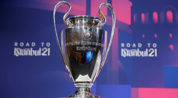 La copa de la Champions League en Nyon, Suiza, el 19 de marzo de 2021. UEFA/Handout vía REUTERS