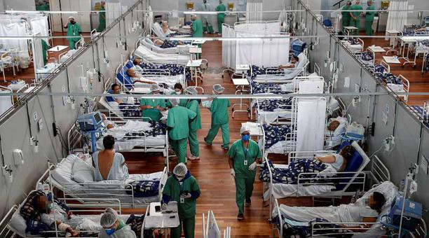 El estado de Sao Paulo, el más poblado de Brasil, es uno de los más afectados por la pandemia. Foto: EFE